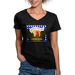 American Poultry Women's V-Neck Dark T-Shirt