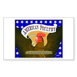 American Poultry Rectangle Sticker 10 pk)