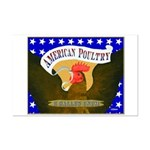 American Poultry Mini Poster Print