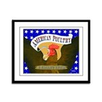 American Poultry Framed Panel Print