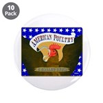 """American Poultry 3.5"""" Button (10 pack)"""