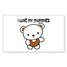 #9 I Love My Mommies Rectangle Decal