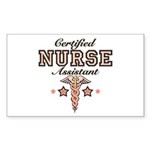 Certified Nurse Assistant Rectangle Sticker 50 pk