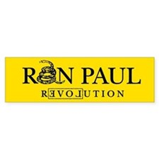 Ron Paul Revolution Bumper Car Sticker