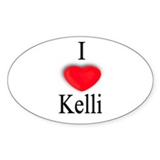 Kelli Oval Decal