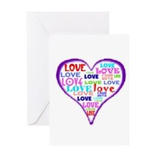 LOVERS HEART Greeting Card