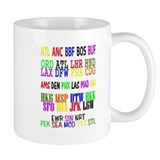 Airport Code Small Mug