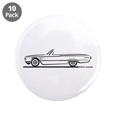 "1965 Ford Thunderbird Convertible 3.5"" Button (10"
