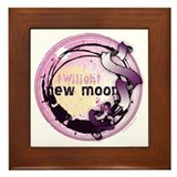 New Moon Grunge Ribbon Crest Framed Tile
