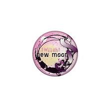 New Moon Grunge Ribbon Crest Mini Button