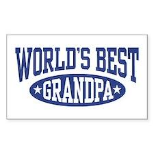 World's Best Grandpa Rectangle Decal