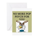 pop psych gifts and t-shirts Greeting Cards (Pk of