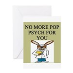pop psych gifts and t-shirts Greeting Card