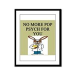 pop psych gifts and t-shirts Framed Panel Print
