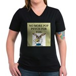 pop psych gifts and t-shirts Women's V-Neck Dark T