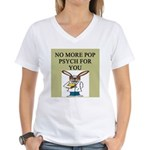 pop psych gifts and t-shirts Women's V-Neck T-Shir
