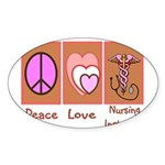 More Nursing Student Oval Sticker (10 pk)