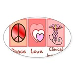 More Nursing Student Oval Sticker (50 pk)
