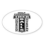Golf Par Condoms Oval Sticker (50 pk)