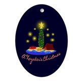 Kayak christmas Oval Ornaments