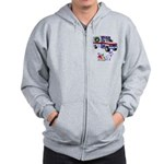 EMS Happy Holidays Greetings Zip Hoodie