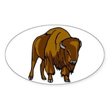 American Bison/Buffalo Oval Decal