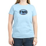Fort Myers Beach FL - Oval Design T-Shirt
