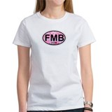 Fort Myers Beach FL - Oval Design Tee