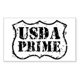 USDA Prime Rectangle Decal