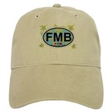 Fort Myers Beach FL - Oval Design Baseball Cap