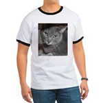 Gray Cat Love Ringer T
