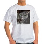 Gray Cat Love Light T-Shirt