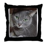 Gray Cat Love Throw Pillow