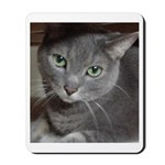 Gray Cat Love Mousepad