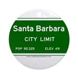 Santa Barbara Ornament (Round)