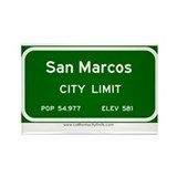 San Marcos Rectangle Magnet