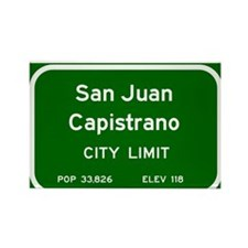 San Juan Capistrano Rectangle Magnet