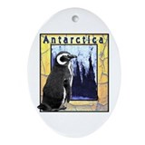 Antarctica Penguin Oval Ornament