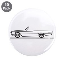 "1966 Ford Thunderbird Convertible 3.5"" Button (10"