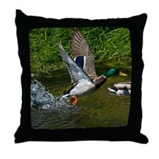 Mallard Take-off Throw Pillow
