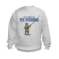 Fly Fishing Kids Sweatshirt