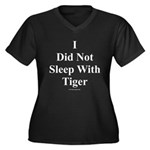 I Did Not Sleep With Tiger Women's Plus Size V-Nec