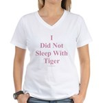 I Did Not Sleep With Tiger Women's V-Neck T-Shirt