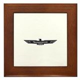 Ford Thunderbird Black Bird Logo Framed Tile