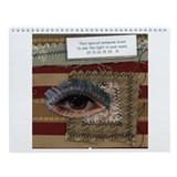 Cute Quilt square Wall Calendar