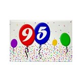 95th Birthday Rectangle Magnet