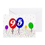 95th Birthday Greeting Cards (Pk of 10)