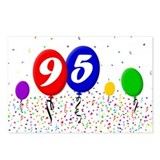 95th Birthday Postcards (Package of 8)