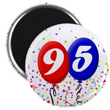 "95th Birthday 2.25"" Magnet (10 pack)"