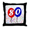 80th Birthday Throw Pillow